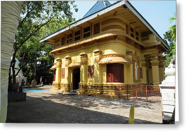 Building At Gangaramaya Temple 19th Greeting Card by Panoramic Images