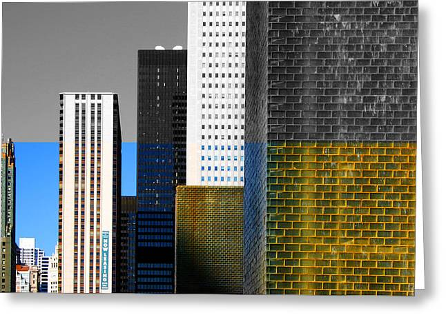 Building Blocks Cityscape Greeting Card