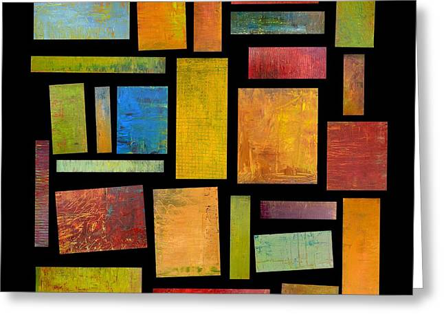 Building Blocks Four Greeting Card by Michelle Calkins