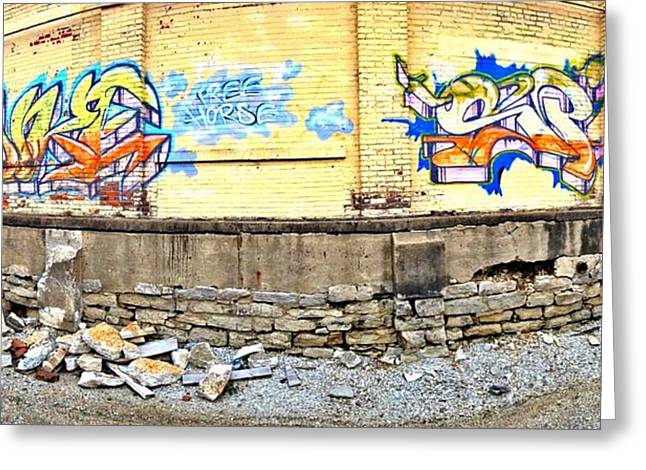 Building By The Tracks Greeting Card by Andrew Martin