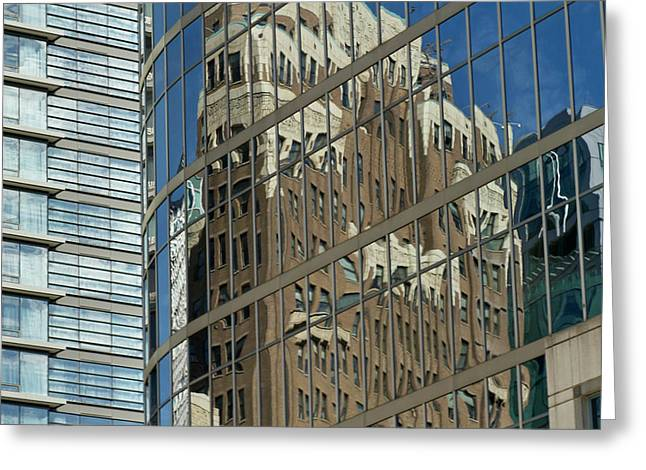 Building Reflection, Vancouver, British Greeting Card