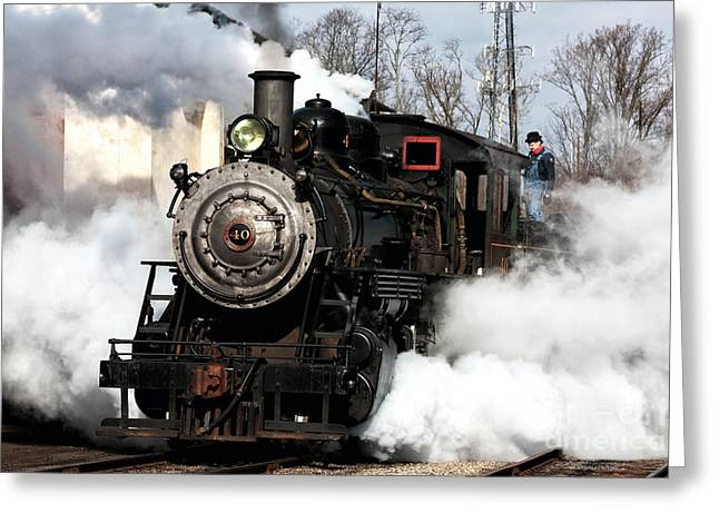 Building Steam Greeting Card by John Rizzuto