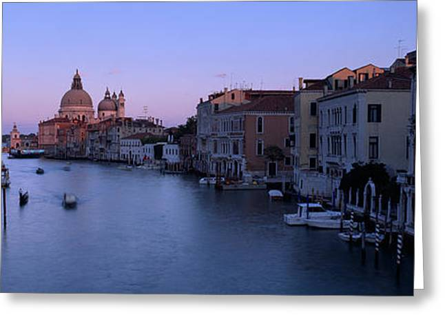 Buildings Along A Canal, Santa Maria Greeting Card by Panoramic Images