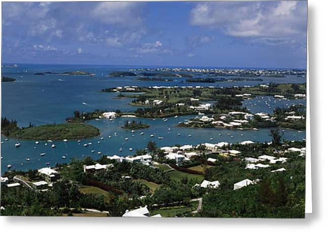 Buildings Along A Coastline, Bermuda Greeting Card