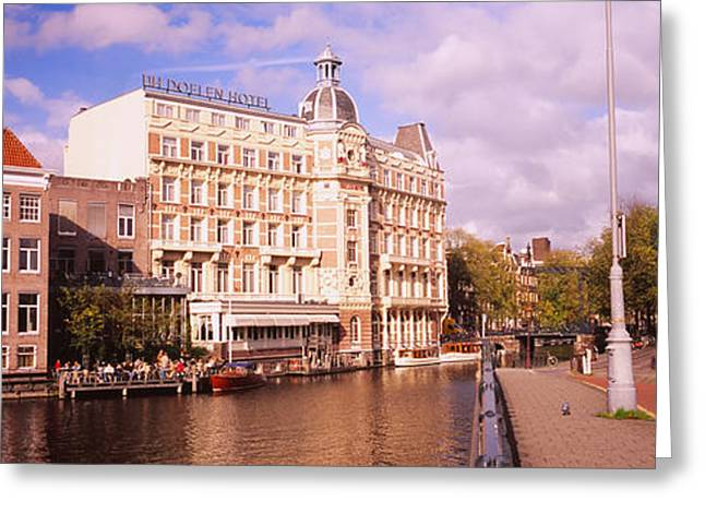 Buildings Along A Water Channel Greeting Card by Panoramic Images