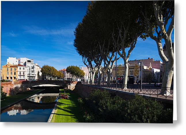 Buildings Along The Basse Riverfront Greeting Card by Panoramic Images