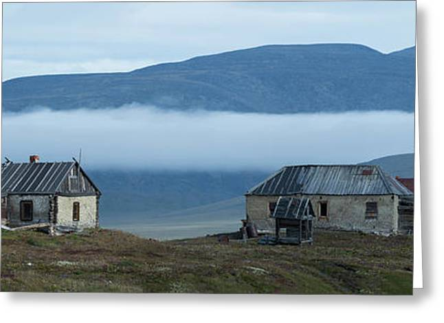 Buildings At Doubtful Village, Wrangel Greeting Card by Panoramic Images