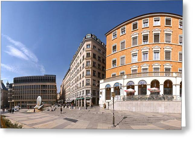Buildings At Place Louis Pradel, Lyon Greeting Card by Panoramic Images