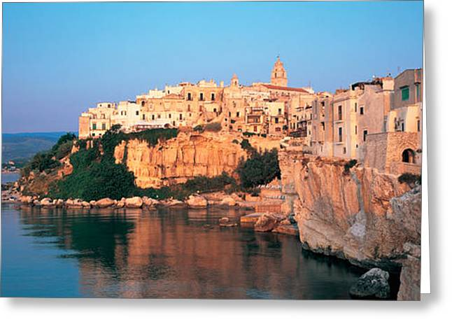 Buildings At The Coast, Vieste Greeting Card by Panoramic Images