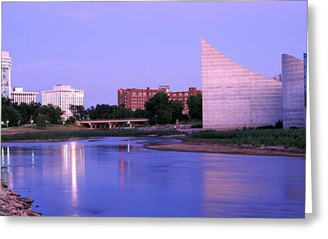 Buildings At The Waterfront, Arkansas Greeting Card by Panoramic Images