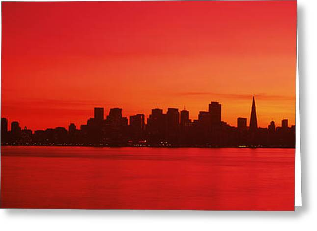Buildings At The Waterfront, Bay Greeting Card by Panoramic Images