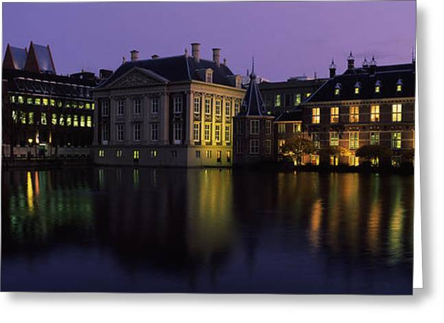 Buildings At The Waterfront, Binnenhof Greeting Card by Panoramic Images