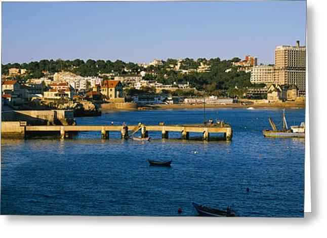 Buildings At The Waterfront, Cascais Greeting Card by Panoramic Images