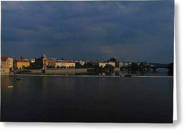 Buildings At The Waterfront, Charles Greeting Card by Panoramic Images