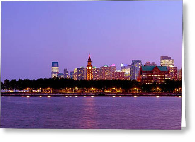 Buildings At The Waterfront, Hoboken Greeting Card