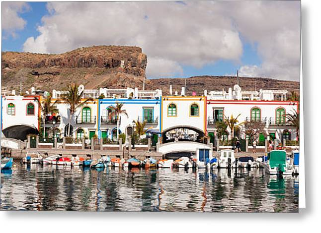 Buildings At The Waterfront, Puerto De Greeting Card by Panoramic Images