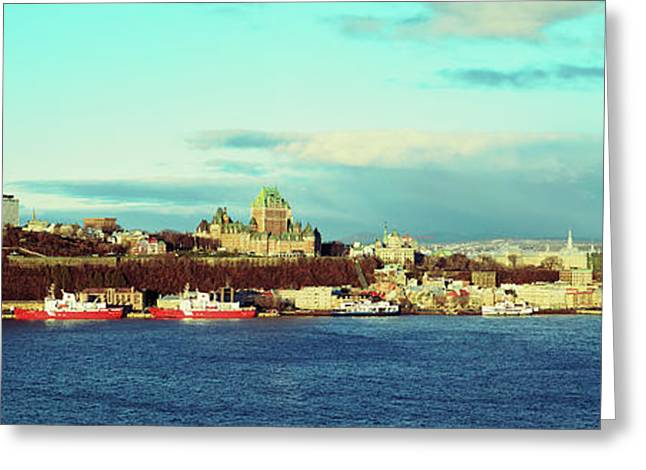 Buildings At The Waterfront, Quebec Greeting Card by Panoramic Images