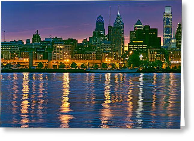 Buildings At The Waterfront, River Greeting Card by Panoramic Images