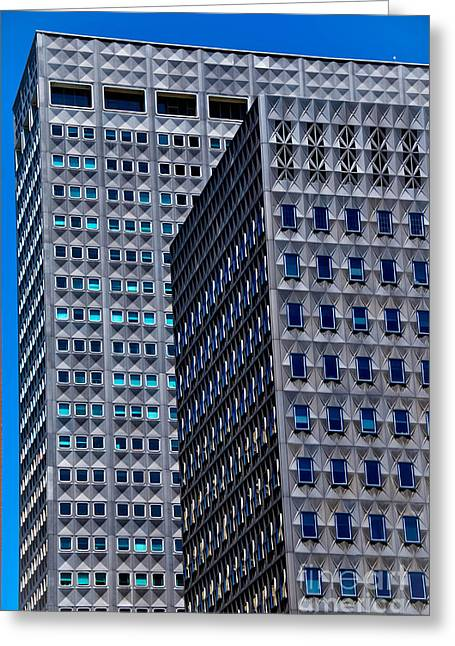 Buildings Downtown Pittsburgh Greeting Card by Amy Cicconi