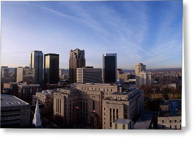 Buildings In A City, Birmingham Greeting Card by Panoramic Images