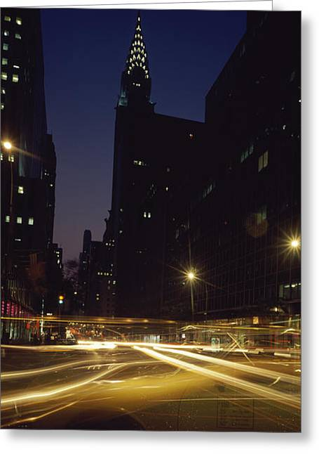 Buildings In A City, Chrysler Building Greeting Card by Panoramic Images