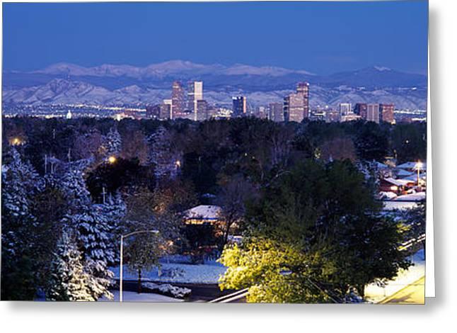 Buildings In A City, Denver, Denver Greeting Card