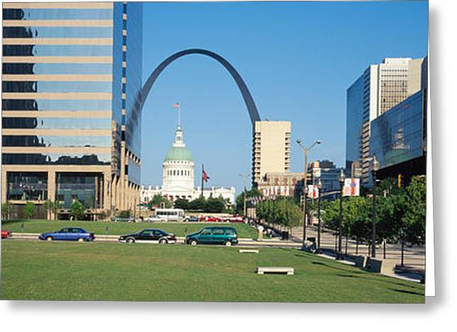 Buildings In A City, Gateway Arch, Old Greeting Card