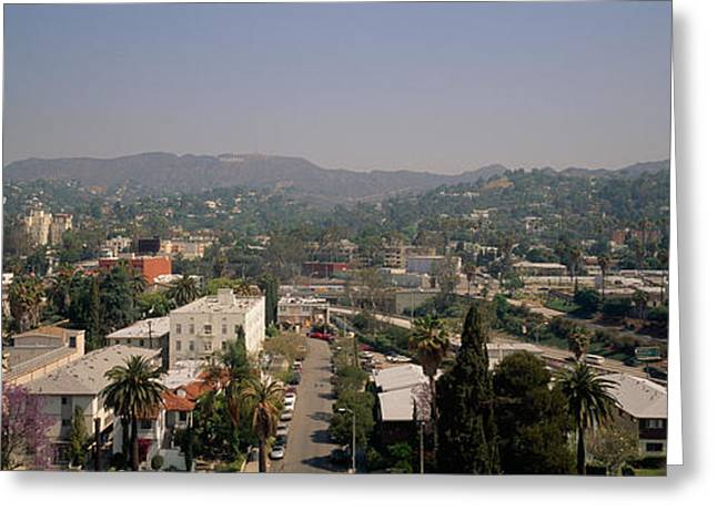 Buildings In A City, Hollywood, City Greeting Card by Panoramic Images