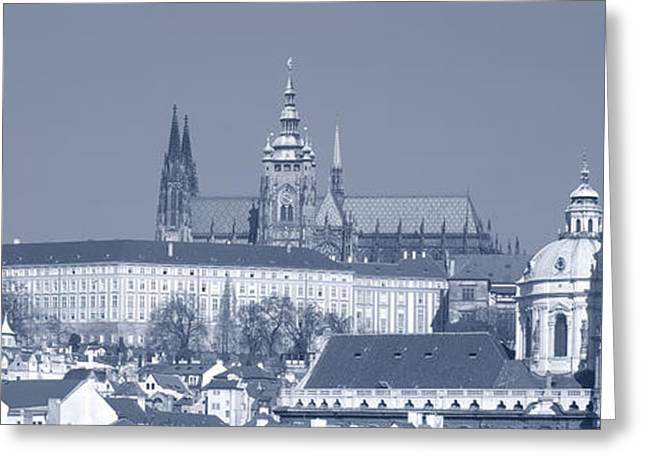 Buildings In A City, Hradcany Castle Greeting Card by Panoramic Images