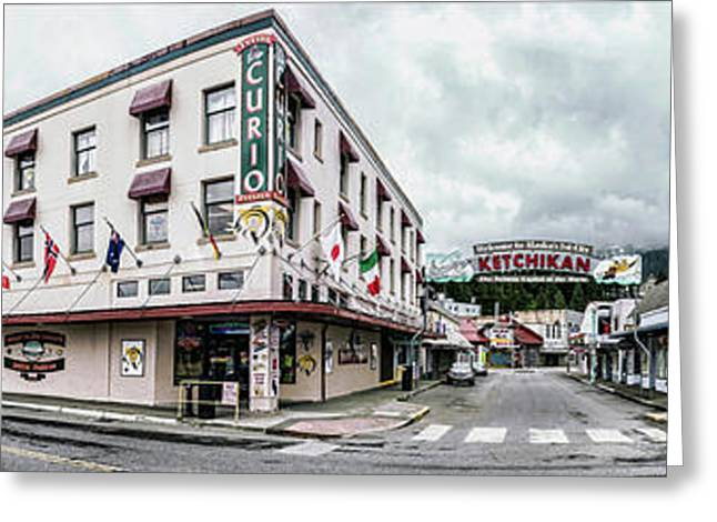 Buildings In A City, Ketchikan Greeting Card