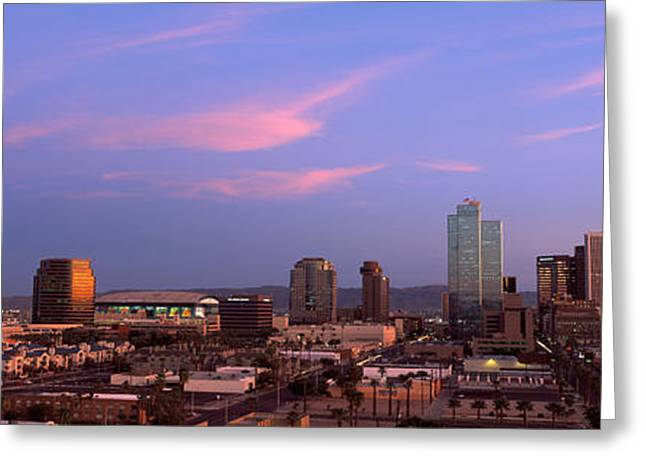 Buildings In A City, Phoenix, Maricopa Greeting Card