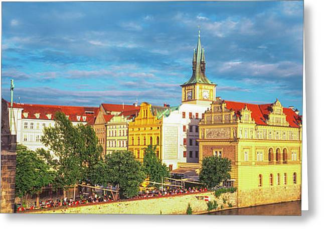 Buildings In A City, Prague, Czech Greeting Card by Panoramic Images