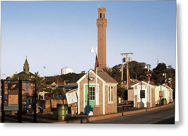 Buildings In A City, Provincetown, Cape Greeting Card