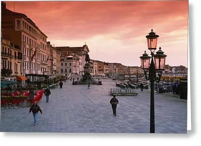 Buildings In A City, Riva Degli Greeting Card