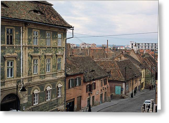 Buildings In A City, Town Center, Big Greeting Card by Panoramic Images