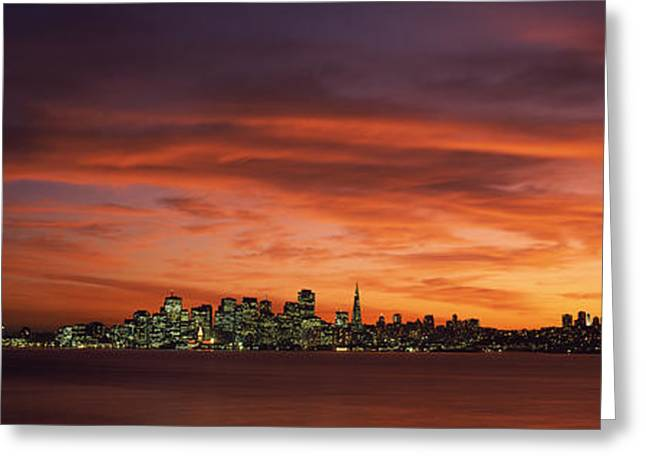 Buildings In A City, View From Treasure Greeting Card by Panoramic Images
