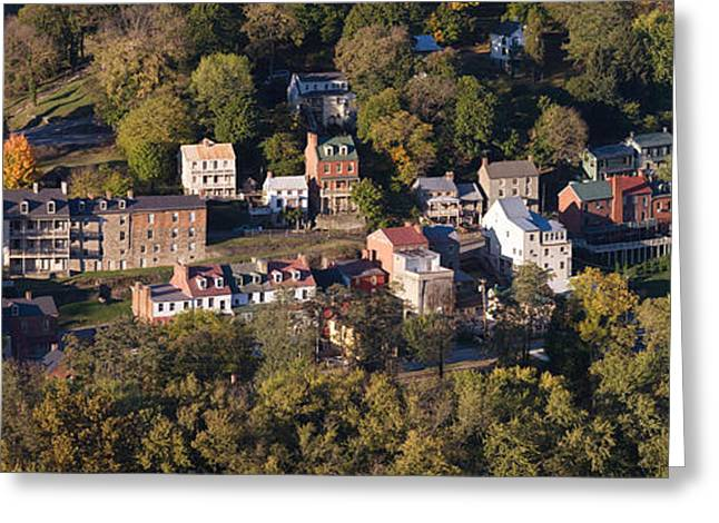 Buildings In A Town, Harpers Ferry Greeting Card
