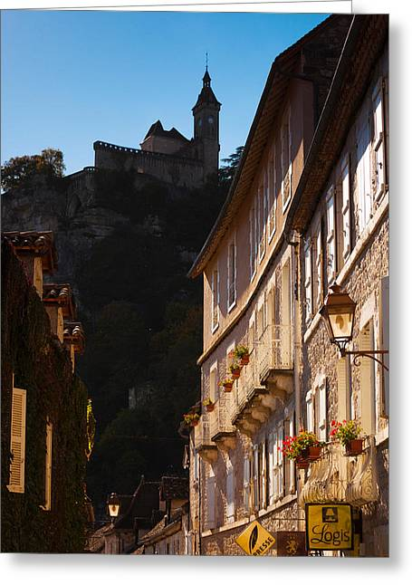 Buildings In A Town, Rocamadour, Lot Greeting Card