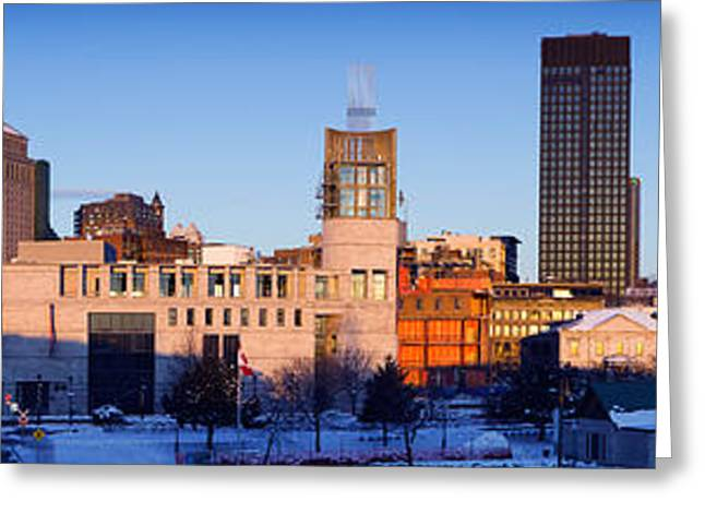 Buildings In Winter, Montreal, Quebec Greeting Card by Panoramic Images
