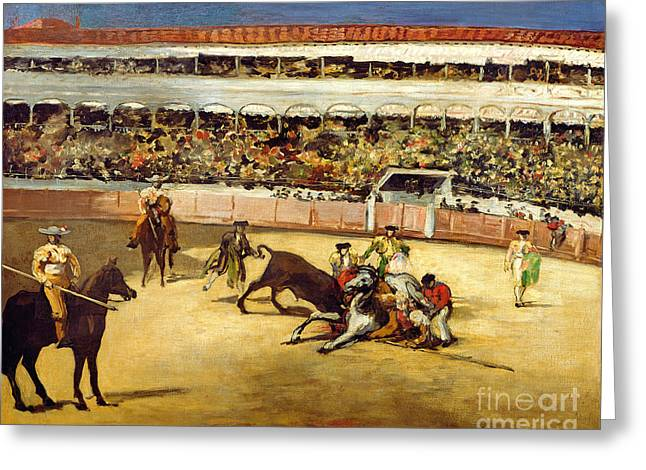Bull Fight Greeting Card by Edouard Manet