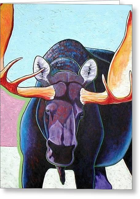 Bull Moose  Greeting Card by Joe  Triano