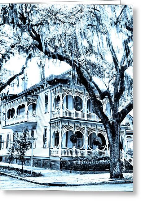 Bull Street House Savannah Ga Greeting Card