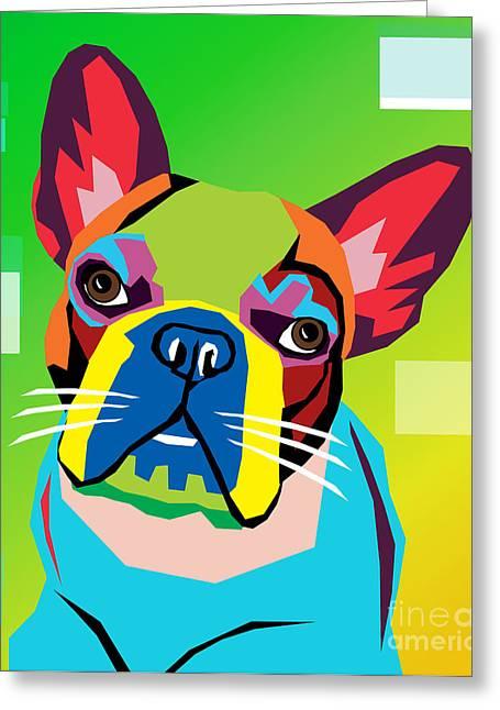 Bulldog  Greeting Card by Mark Ashkenazi