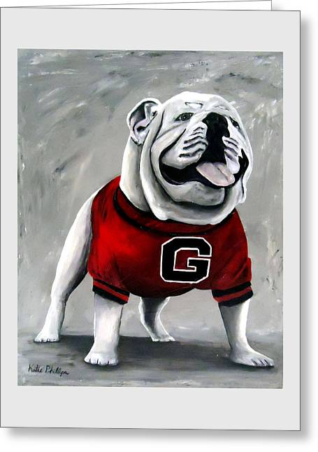 Uga Bullog Damn Good Dawg Greeting Card by Katie Phillips
