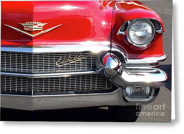 Bullet Bumpers - 1956 Cadillac Greeting Card