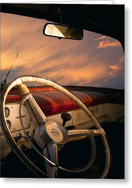 Bullet Hole Greeting Card by William Schmid