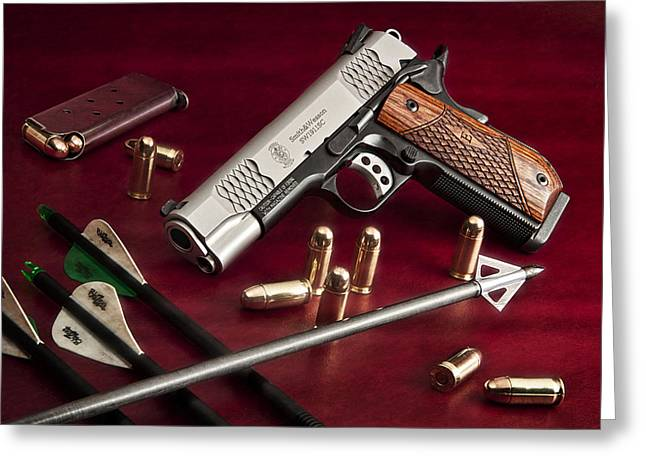 Bullets And Broadheads Greeting Card by Tom Mc Nemar