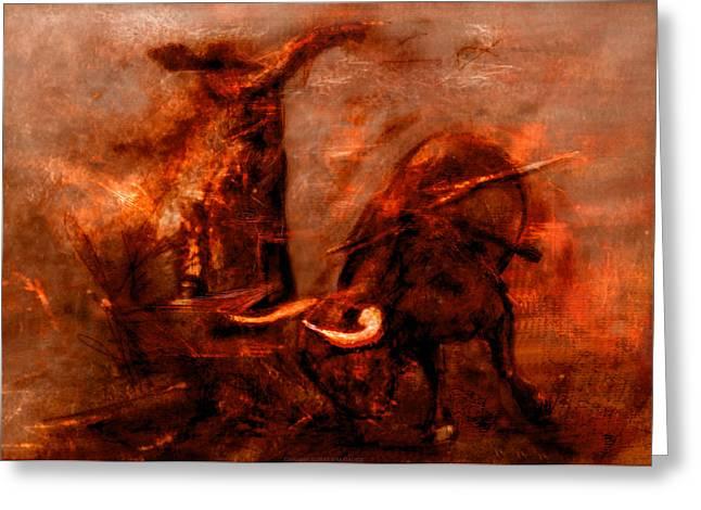 Bullfight Greeting Card