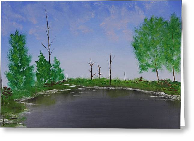 Greeting Card featuring the painting Bullfrog Reservoir by Jennifer Muller