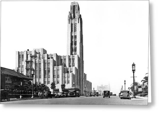 Bullock's On Wilshire Blvd Greeting Card by Underwood Archives